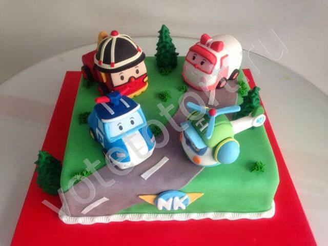 торт поли робокар фото