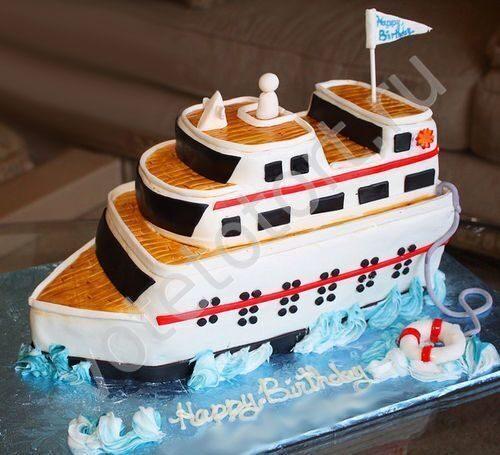 торт корабль детский фото