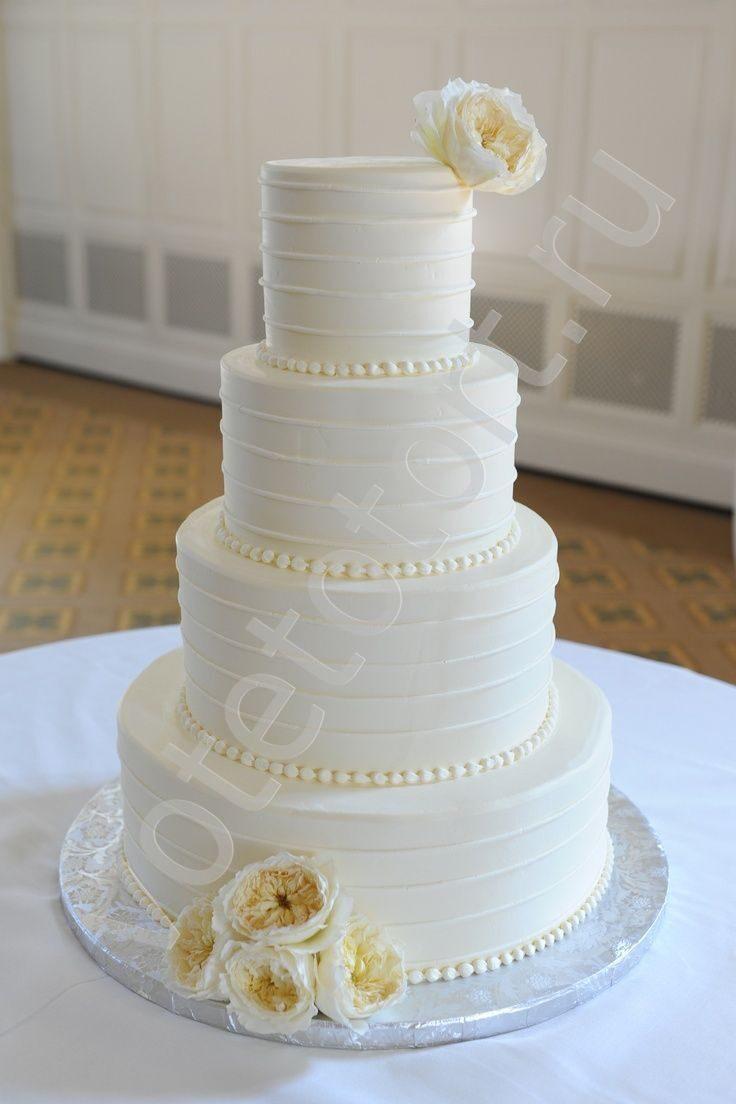 Белый торт свадебный фото