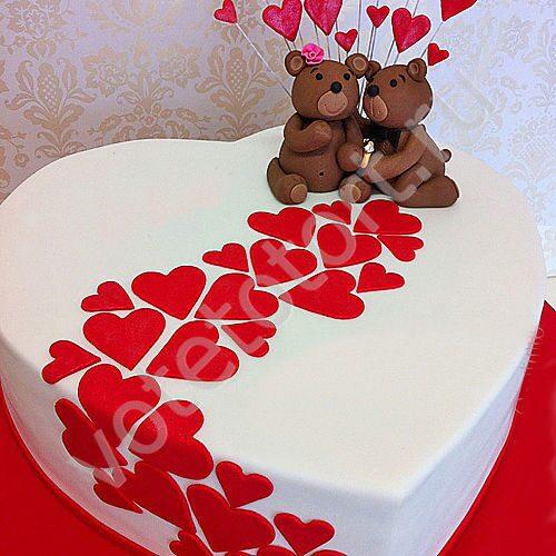 Торт сердечком своими руками 14