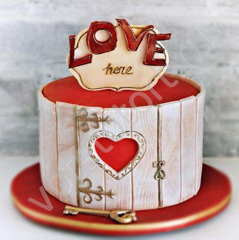 торты для влюблённых фото