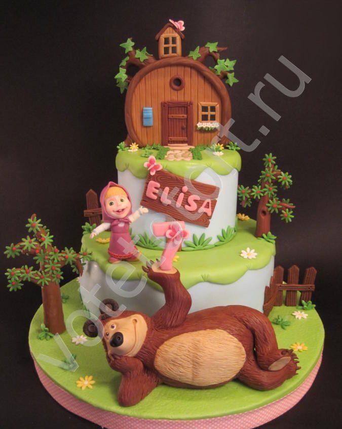 картинки маша и медведь на торт