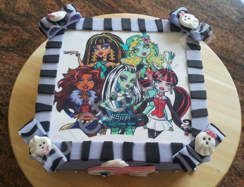 Детские торты на заказ монстр хай фото