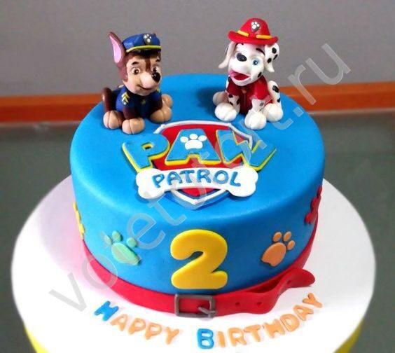 фото торта щенячий патруль