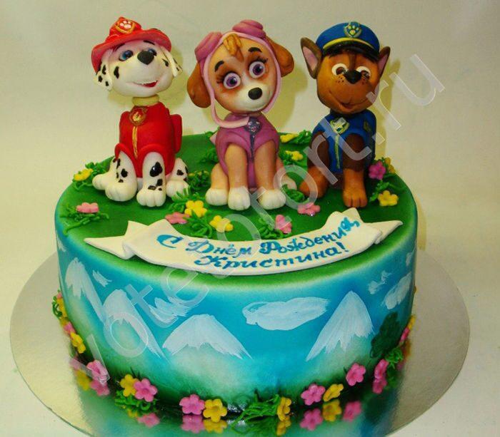 Детские торты щенячий патруль картинки