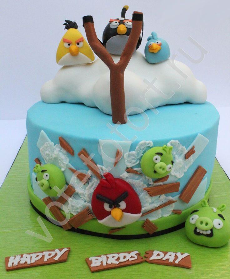 Торты angry birds фото