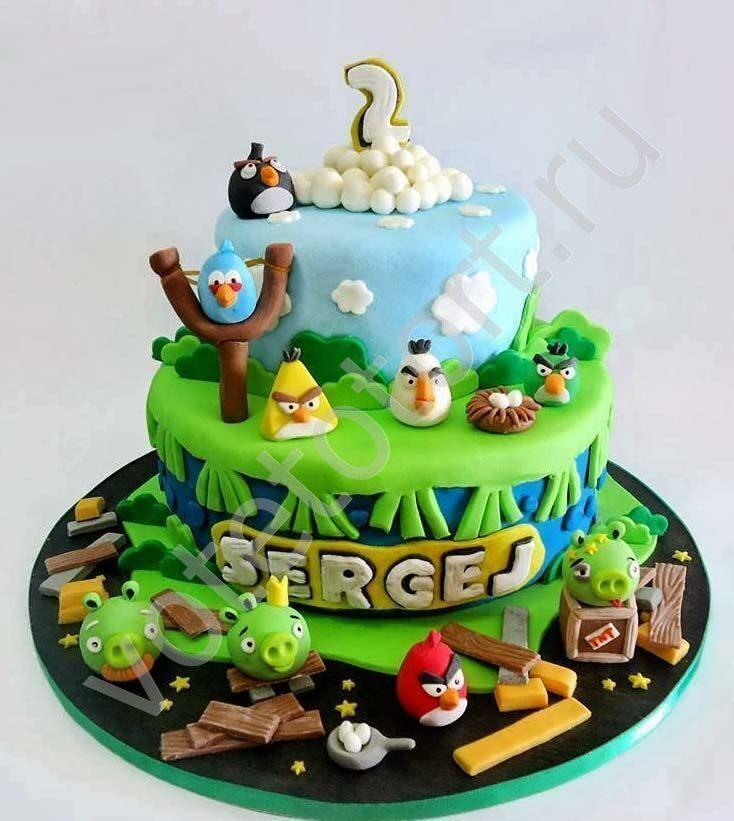фото торты с энгри бердз