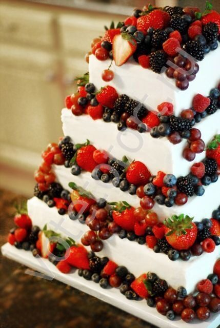 Свадебный торт без мастики на заказ