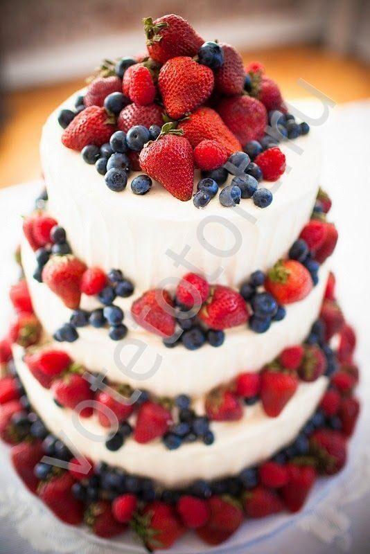 украсить торт ягодами фотографии