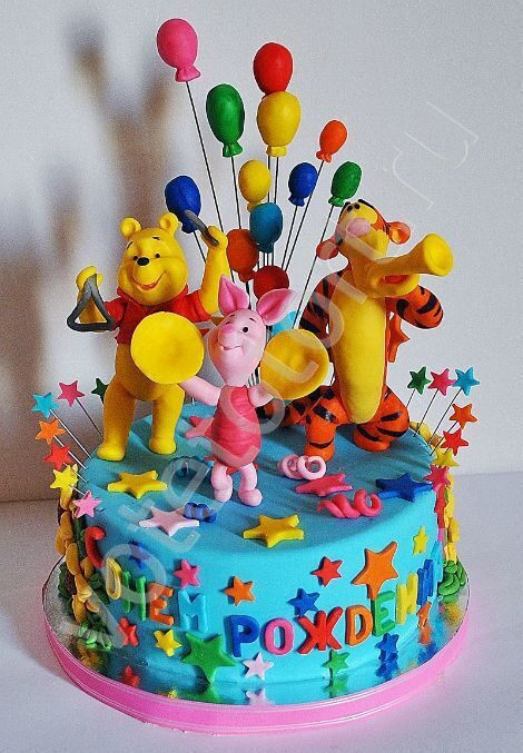 Красивые торты для ребенка на день р винни фото