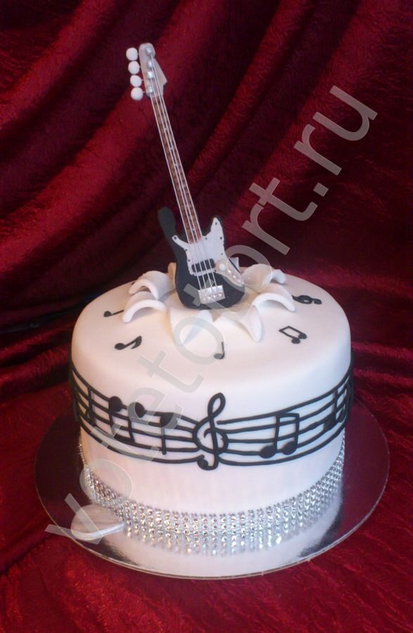 Как сделать торт гитара