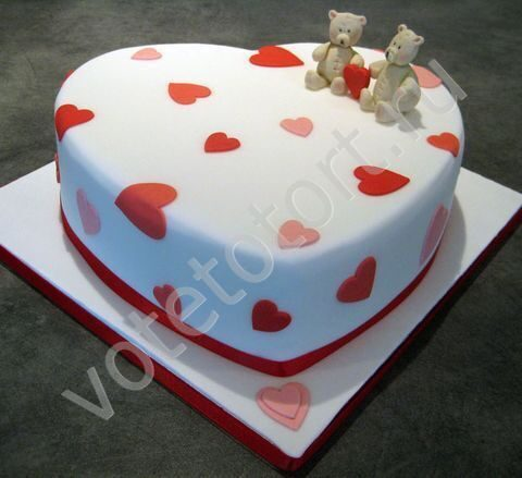 Фото торты сердечками