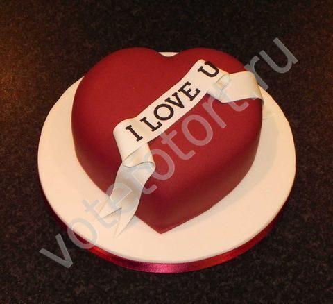 Фото тортов на день закоханих