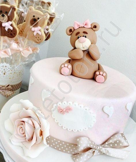 торт на 1 годик ребенку фото