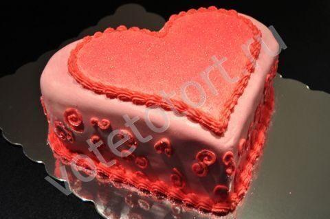Торт любимому фото сердце