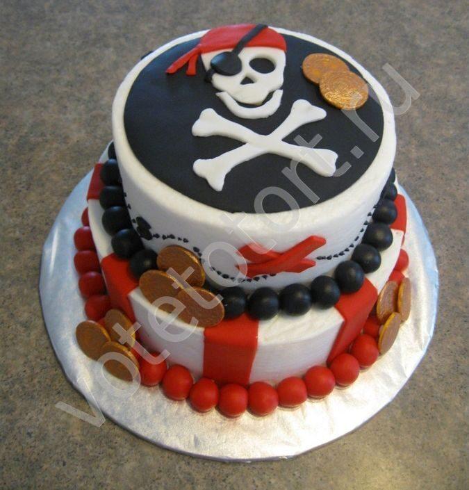 Торт в пиратском стиле своими руками