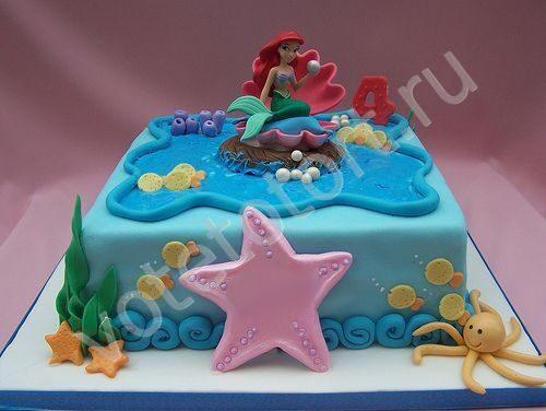 Фото русалочки ариэль торт