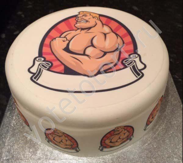 торт фото для спортсмена