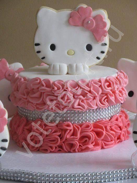 торт с фото китти