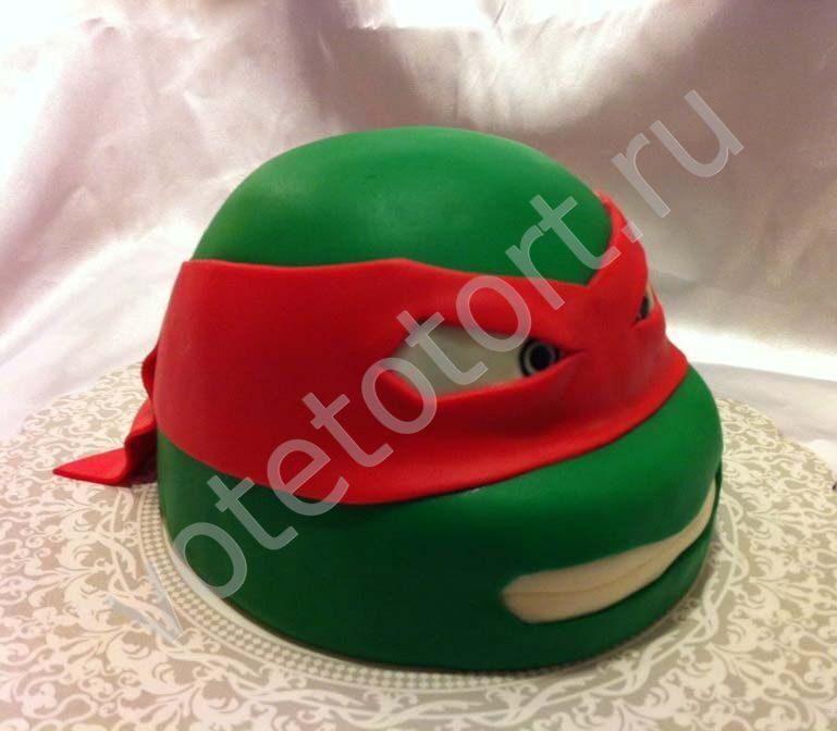 Торт голова черепашки ниндзя