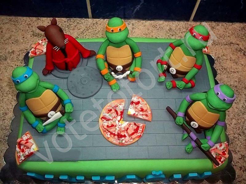 Фото детских тортов с ниндзя