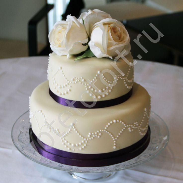 Свадебный торт 2 ярусный