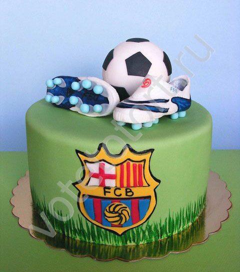 идеи украшение тортов мастикой футбол для детей фото