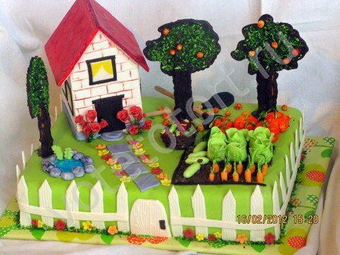 Торт дачный домик фото