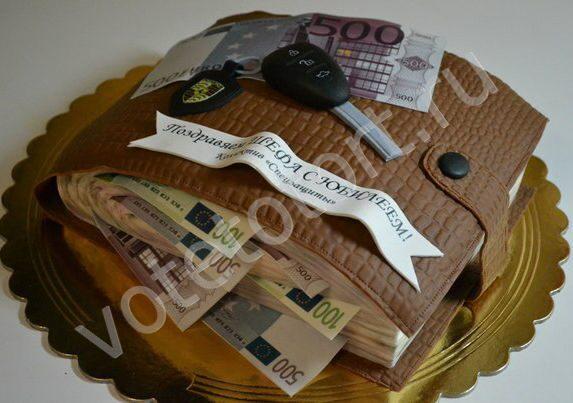 торты денежные фото