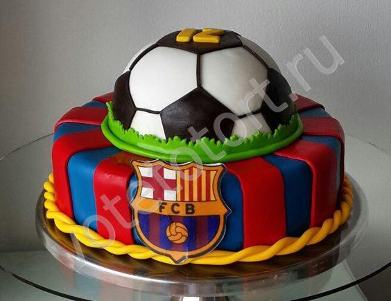 торты с футбольной тематикой фото