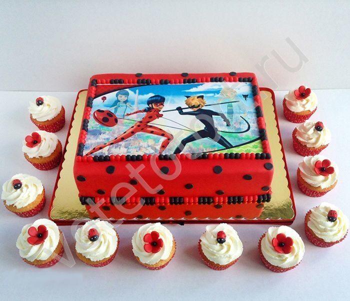 детский торт леди баг фото