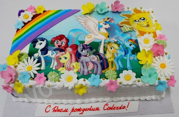 Детские торты май литл пони фото