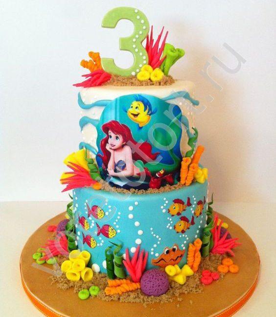 торт русалочка ариэль фото