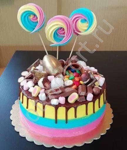 Украшение торта мармеладками