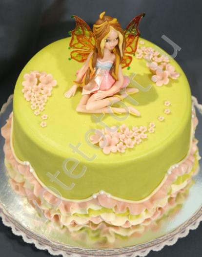 торт с феей винкс фото